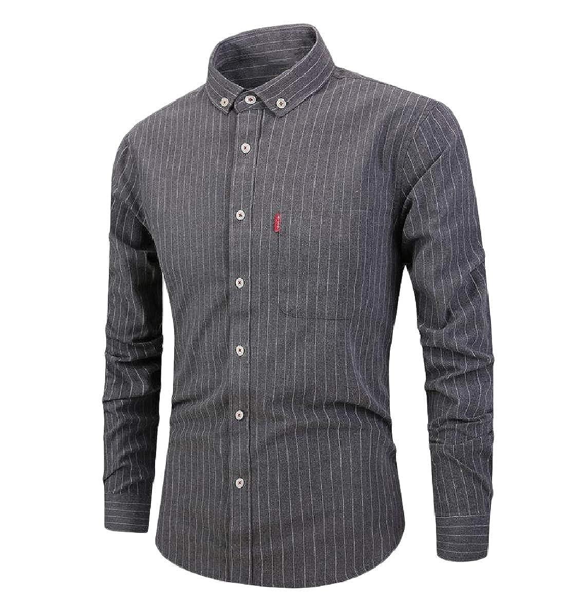 Mfasica Mens Non-Iron Plus Size Formal Cotton Premium Select Woven Shirt
