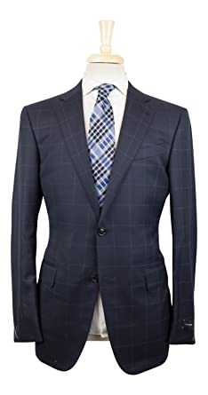 952306262ead6 Amazon.com: Ermenegildo Zegna Mila Blue Wool 2 Button Suit Size 50 ...