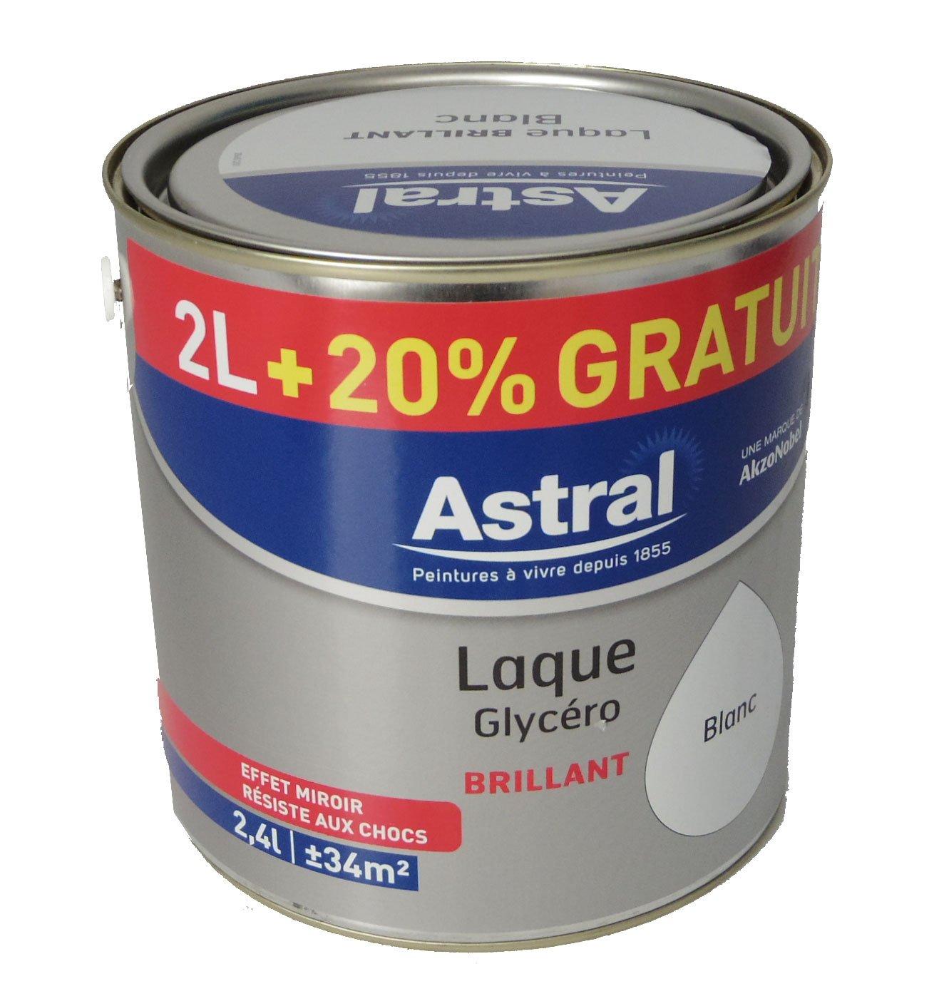 Astral 5213462 Laque Glycéro 2 L 20 Brillante Blanc