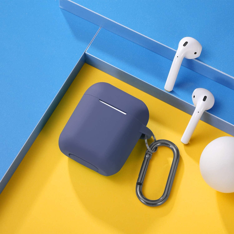 T/ürkis AirPods Case Kompatibel mit Apple Airpods 2 /& 1 Maledan AirPods H/ülle Front LED Sichtbar Voller Schutz Silikon Schutzh/ülle Unterst/ützt kabelloses Laden mit karabiner