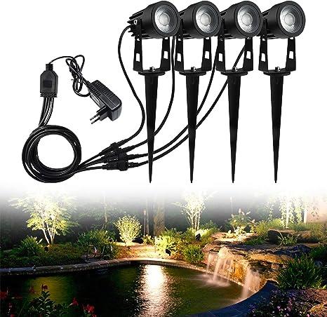 12x 3W Gartenstrahler LED Gartenlicht Strahler Garten Außenleuchte Erdspieß IP65