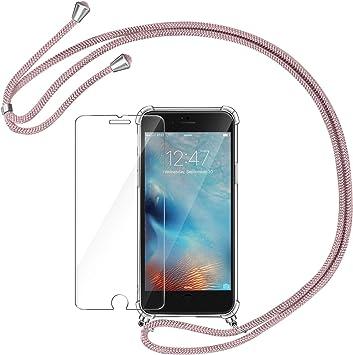 AROYI Funda con Cuerda para iPhone 6 / 6S + Protector Pantalla, Carcasa Transparente TPU Silicona Case con Colgante Ajustable Collar Correa de Cuello Cadena Cordón para iPhone 6 / 6S: Amazon.es: Electrónica