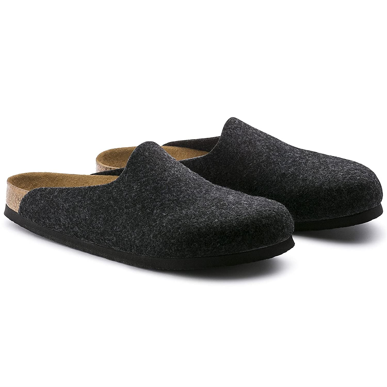 d560ca7bf443 Birkenstock Amsterdam Wool Felt Clog Sandals Anthracite Shoes Mules  Footwear  Amazon.co.uk  Clothing