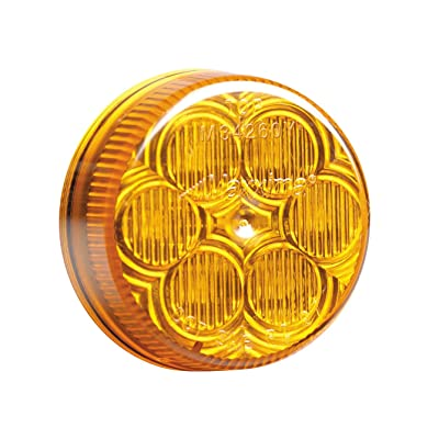 "Maxxima M34260Y Amber 2"" Round LED Clearance Marker Light: Automotive"