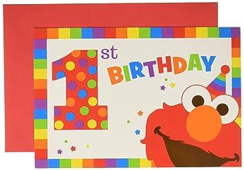 Amazon.com: Barrio Sésamo 1er Cumpleaños Elmo Turns Uno ...