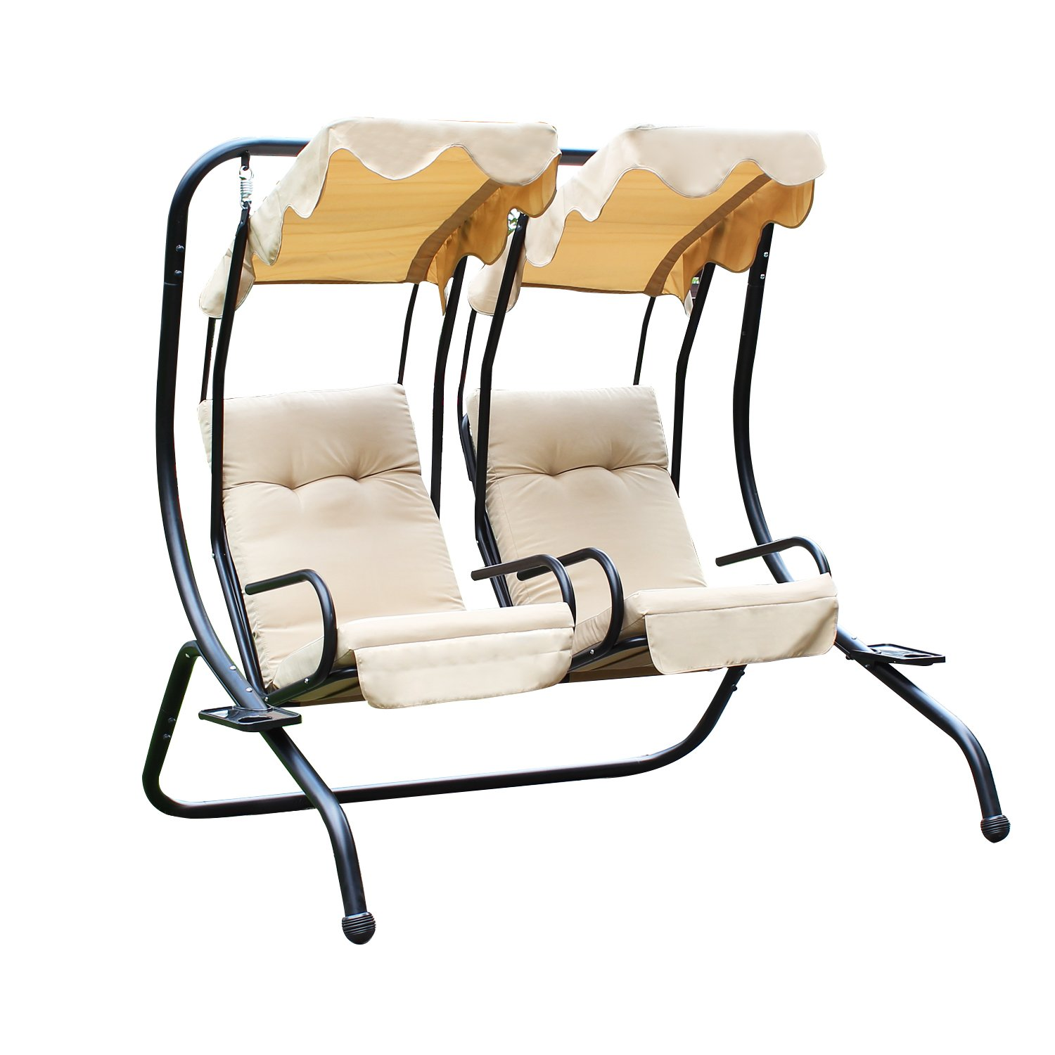 Amazon Adeco Canopy Awning Porch Swings Bench Chair Outdoor