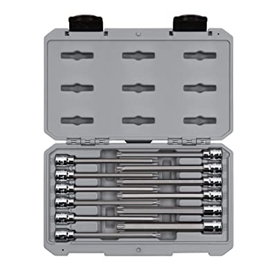"TEKTON 3/8"" Drive Long Torx Bit Socket Set, 12Piece (T10-T60) 