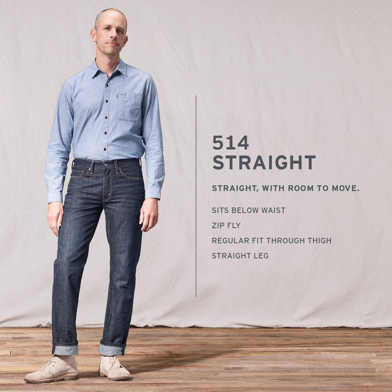 Levi Men's 514 Straight Fit Jeans Blue Stone - Stretch