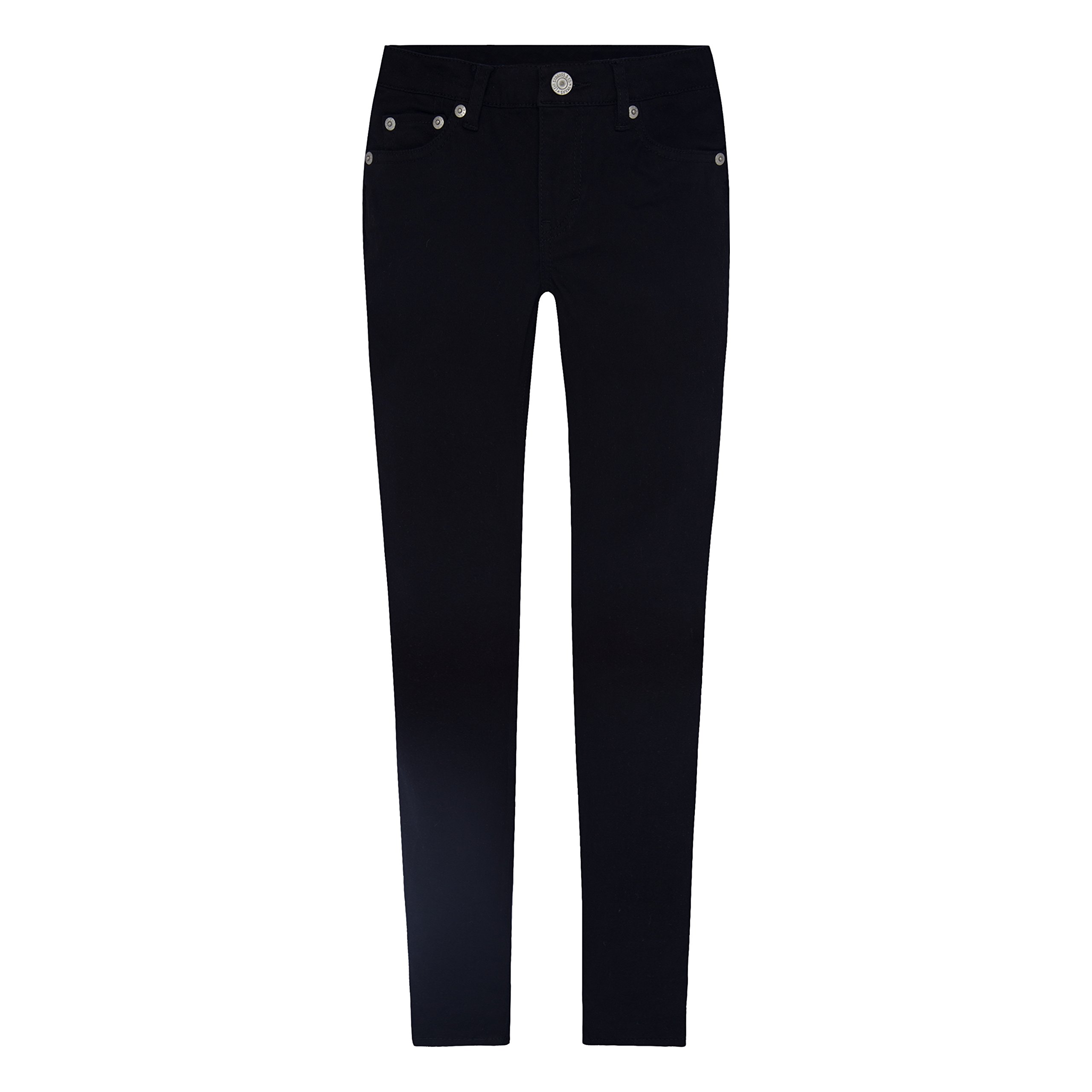 Levi's Girls' 710 Super Skinny Fit Soft Brushed Jeans, Black, 4 by Levi's