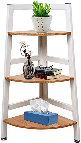 Deal of the week: KARMAS PRODUCT 3-Tier Free Standing Corner Shelf Wooden Corner Ladder Bookcase Plant Bookcase Stand