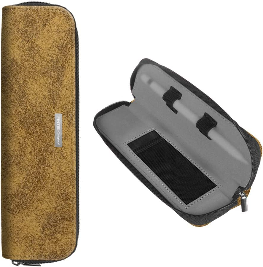 Fintie Case Sleeve Pouch for Apple Pencil - Premium PU Leather Carrying Bag with Built-in Pocket and Holder for Apple iPad Pro/iPad 2018 (6th Gen) Pencil, Compatible with Samsung Tab S3 S Pen, Khaki?