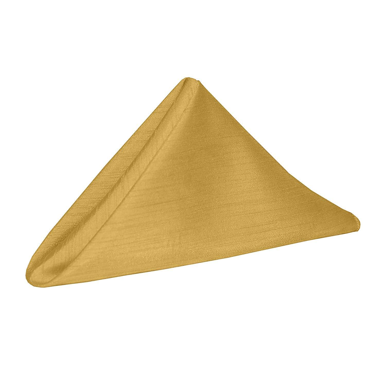 AGN Linen Satin Napkin 1-Dozen(18x18) (Gold)