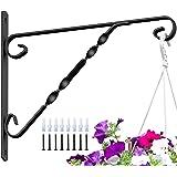 "Amagabeli 4 Pack Hanging Plants Bracket 12"" Hanger Planter Hooks Flower Pot Bird Feeder Wind Chimes Lanterns Hanger Patio Law"