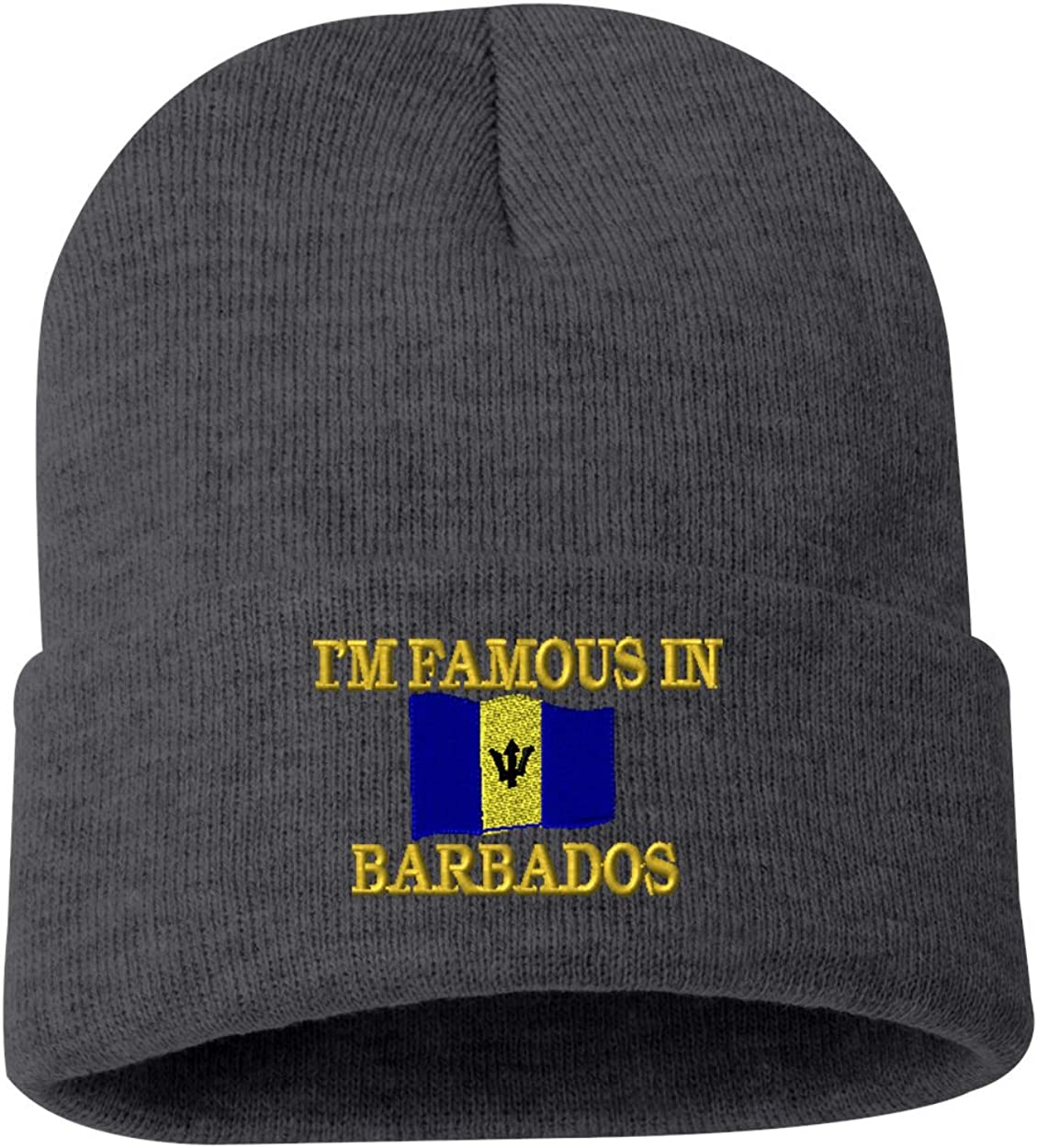 IM FAMOUS IN BARBADOS Custom Personalized Embroidery Embroidered Beanie