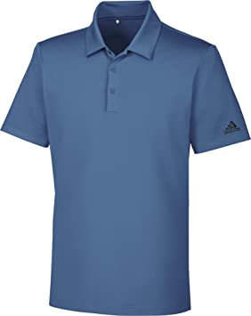 adidas Ultimate 365Solid Polo avec Protection Solaire Up + 50DE Golf, Homme M Bleu