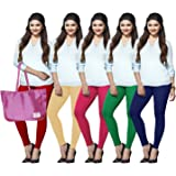 Lux Lyra Women's Cotton Legging Bottom (Pack of 5) (LYRA_AL_12_18_33_51_67_5PC MultiColor FS