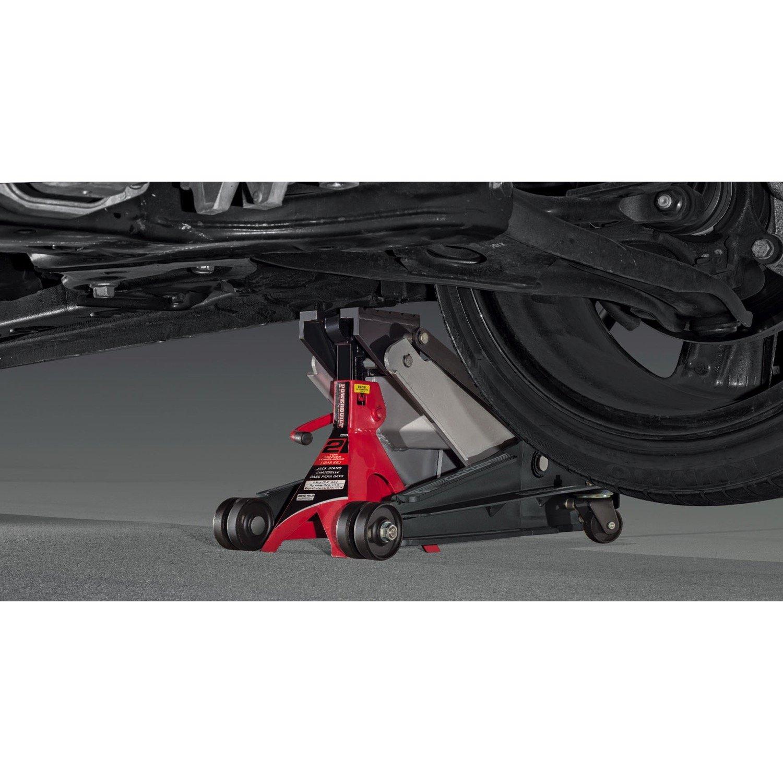 620516 Powerbuilt U-Jack 2 Ton Floor Jack with Jackstand Slot in Saddle