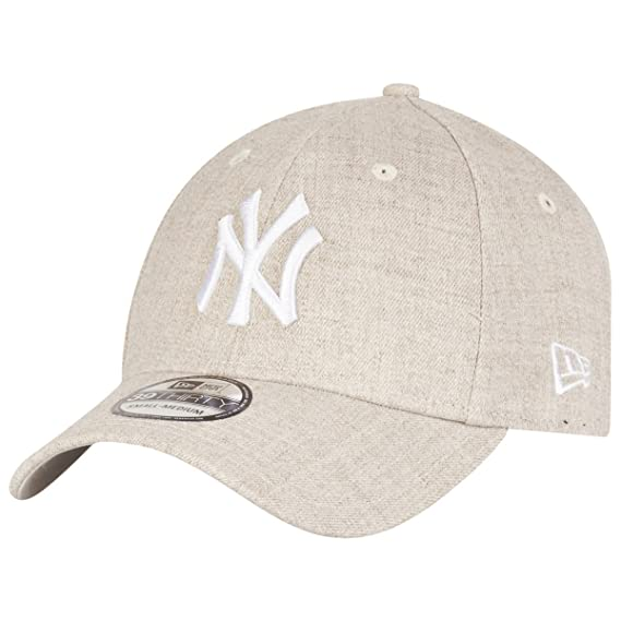 d9148cf971a New Era 39Thirty Cap - HEATHER New York Yankees beige  Amazon.co.uk   Clothing