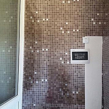 bluelans® 45 x 200 cm Adhésif pour carrelage mosaïque Stickers Sticker  mural – Résistant aux huiles et imperméable – Salle de Bain Stickers pour  ...