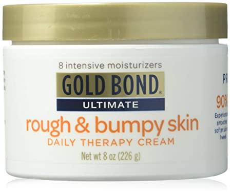 Gold Bond Ultimate Rough Bumpy Skin Daily Therapy Cream, 8 Ounce Jar Pack of 3