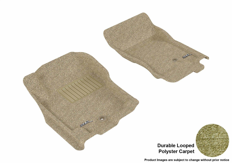L1NS06512209 3D MAXpider Front Row Custom Fit Floor Mat for Select Nissan Pathfinder//Xterra Models Classic Carpet Black