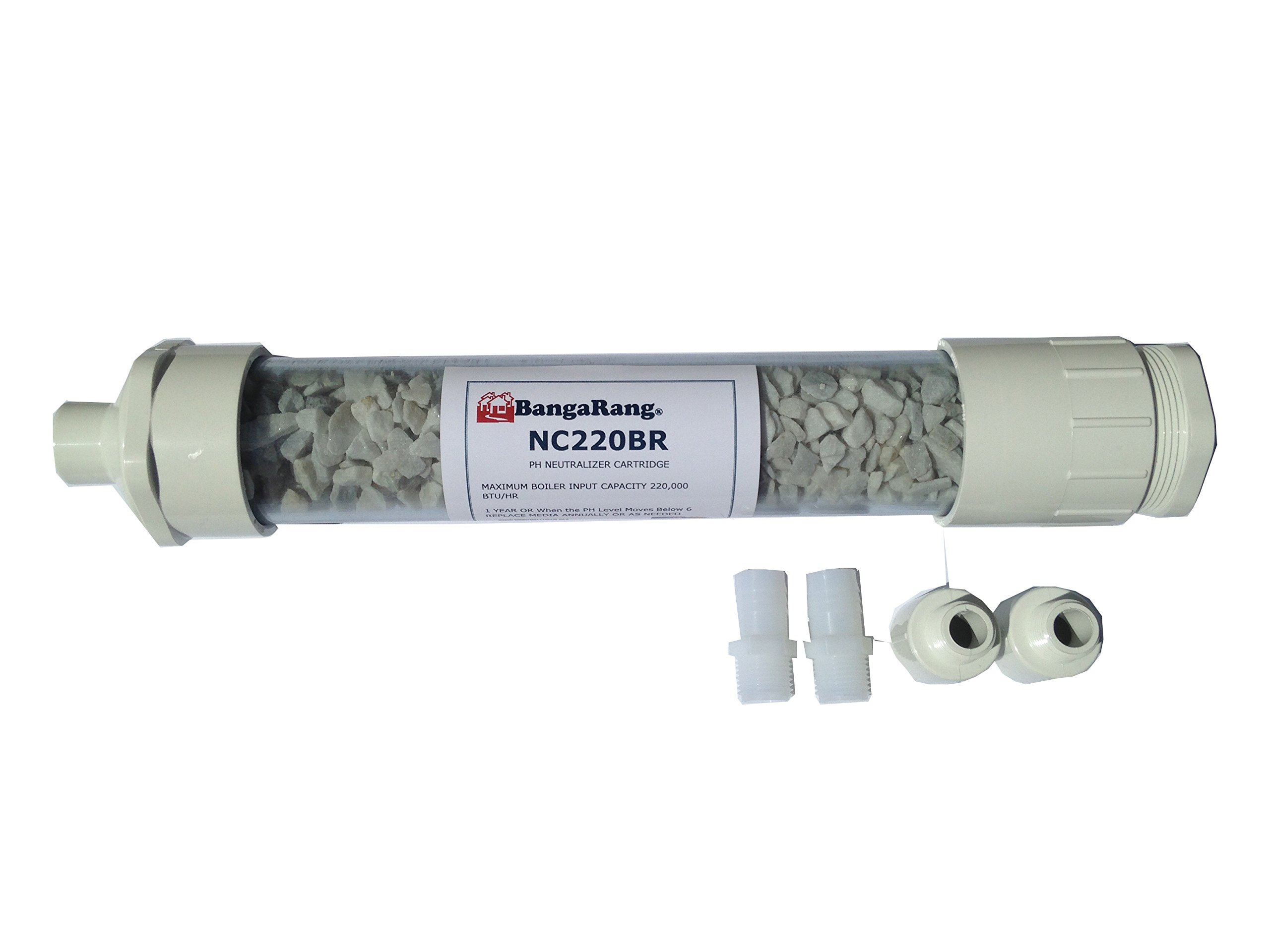 BangaRang Condensate Neutralizer 220,000 btu 15''x2.5'' Fittings 3/4''