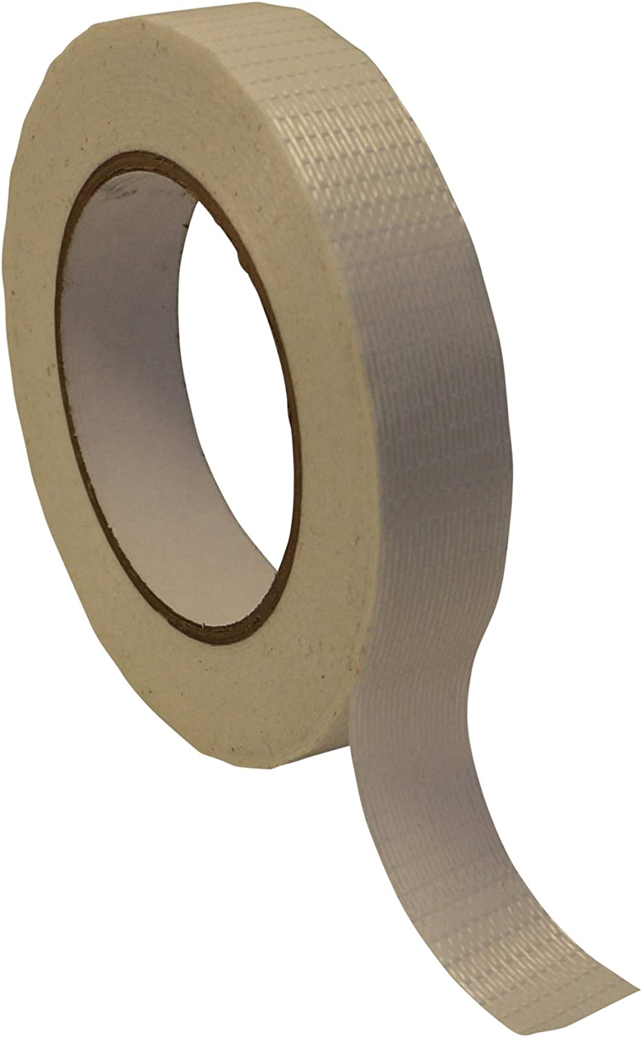 Natural 1-1//2 in x 60 yds. JVCC 762-BD Bi-Directional Filament Strapping Tape