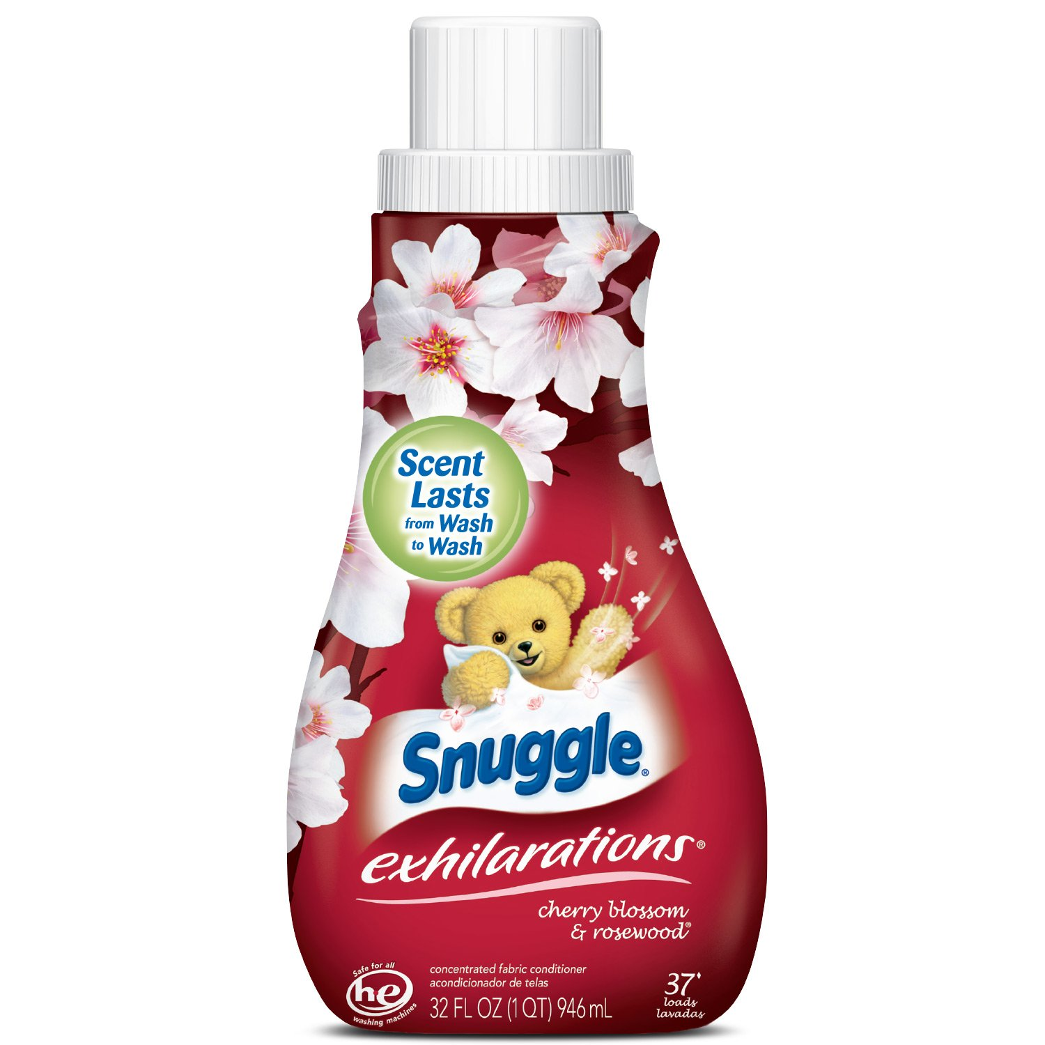 Amazon.com: Snuggle Exhilarations Liquid Fabric Softener, Cherry Blossom & Rosewood, 32 Fluid Ounces: Health & Personal Care