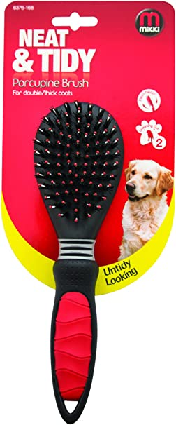 Small Mikki Grooming Porcupine Brush for Double//Thick Coats