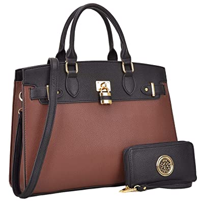 c63b1487420 Amazon.com: MMK collection Fashion Women Purses and Handbags Ladies  Designer Satchel Handbag Tote Bag Shoulder Bags with coin purse  (Z-6876-BK): Shoes