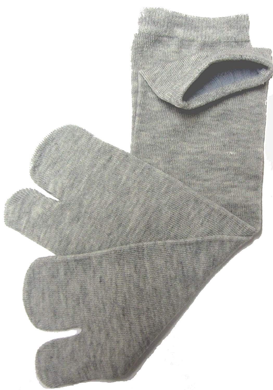 Osaka Japan Shinobi TABI Socks, Geisha,Geta, Japanese 100% Cotton Comfy Ninja, Ninjutsu Tabi Socks Improved, (CNA) Grey Senior/Adult