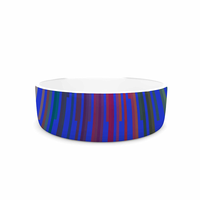KESS InHouse Trebam Vosak  bluee Red Pet Bowl, 7