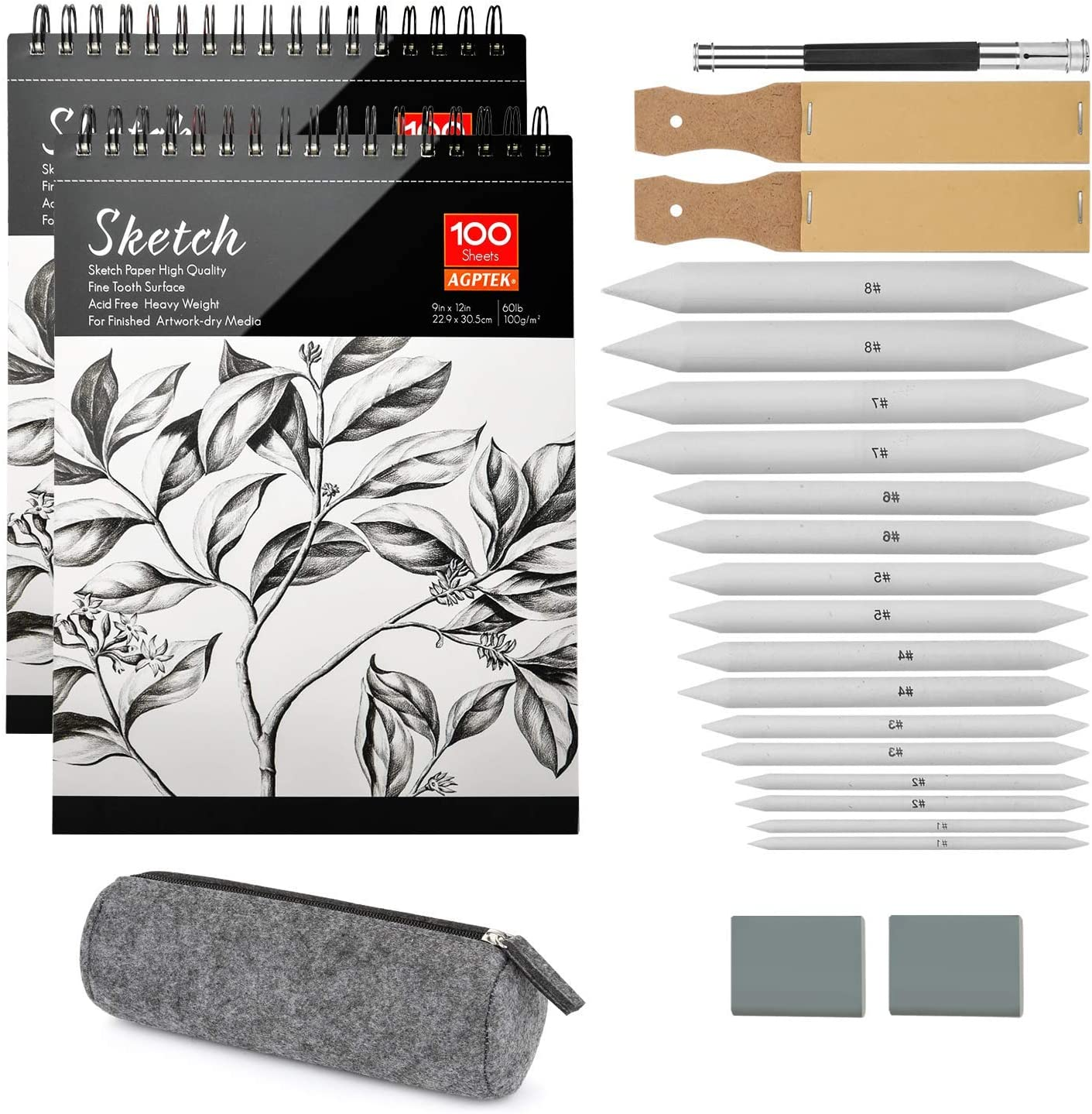 Sketch Drawing Tools Bundle with Sketch Books