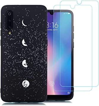 jrester Funda Xiaomi Mi 9,Luna Flexible Suave Silicona Smartphone ...