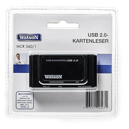 Watson USB 2.0 lector tarjeta mcr360/1   6 Separate Tarjetas ...