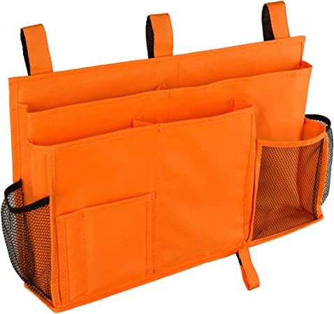 portaoggetti portaoggetti da comodino Arancione per camera da letto 8 tasche 19x11 IN Elezay