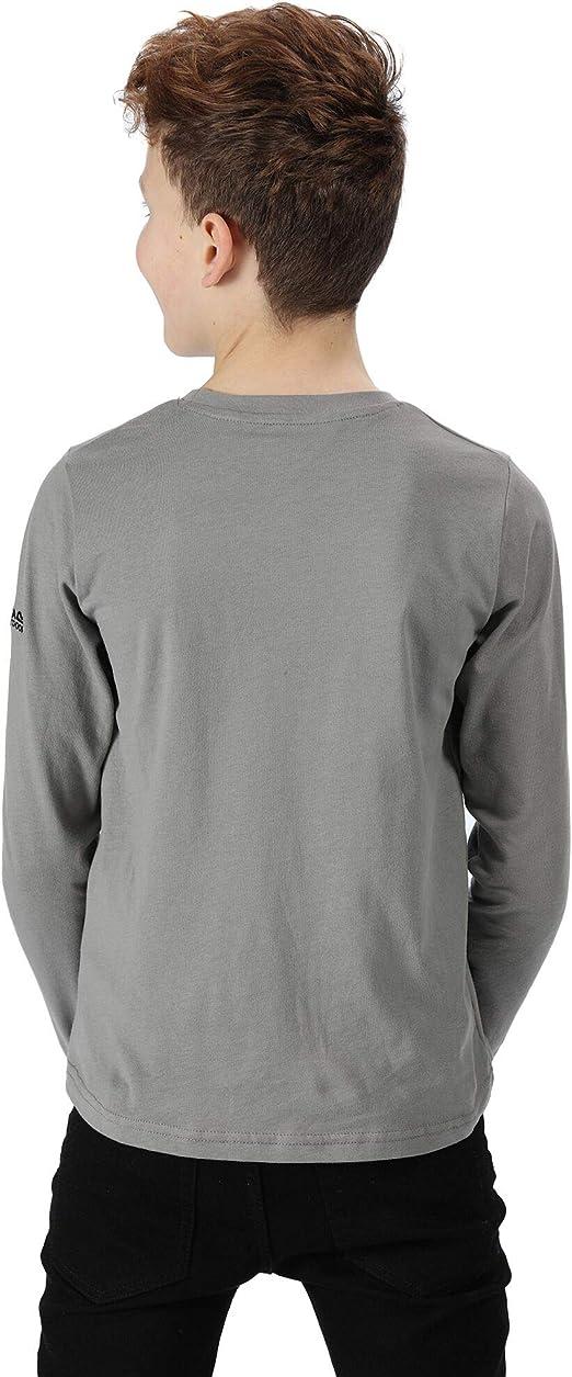 Regatta Wendell Cotton Graphic Print Long Sleeve T-Shirt Polos//Camisetas Unisex ni/ños