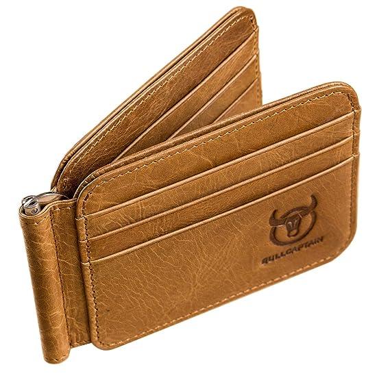 da5f3ed47552 COSZEA Leather Men Wallet RFID Blocking Slim Front Pocket Wallet ...