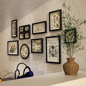 LI LU SHOP Rahmen Wohnzimmer Massivholz Foto Wand Rahmen Wand Schlafzimmer  Einfache Kombination Bild Haus Dekoration