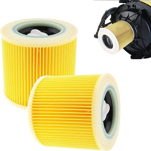 Creative-Idea 2 x Filtro de Cartucho para Karcher wd2.200 wd3.500 ...