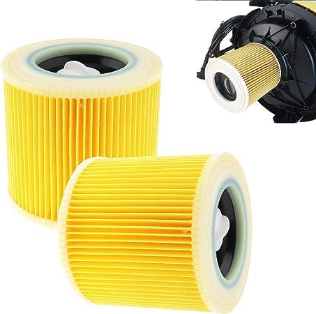 creative-idea 2 x Filtro de cartucho para Karcher wd2.200 wd3.500 aspiradora húmedas y secas accesorios de repuesto: Amazon.es: Hogar