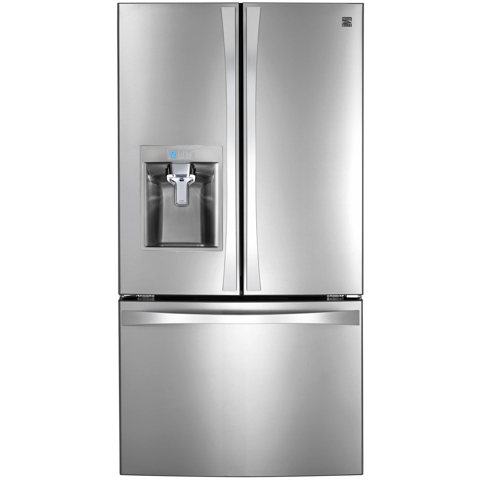 Kenmore Elite 74093 31.7 cu. ft. French Door Bottom Freezer Refrigerator in Stainless Steel, includes delivery and hookup (Available in select cities only)