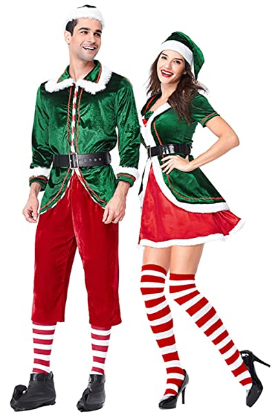 Amazon.com: Sinastar Hombres y Mujeres Navidad Santa Claus ...