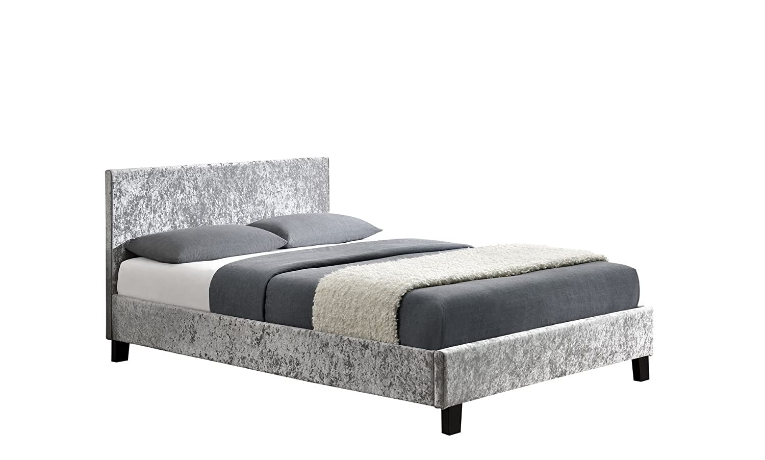 Home, Furniture & Diy Honest Fusion Fabric Single Bed Grey