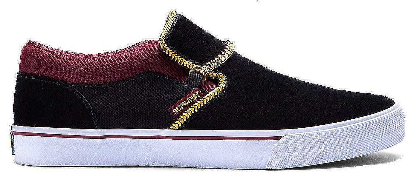 half off bd94b d69bd Amazon.com   Supra S92510 Crown Coalition Cuba Mens Skate Shoes,  Black Burgundy White, Size US Mens 12   Shoes
