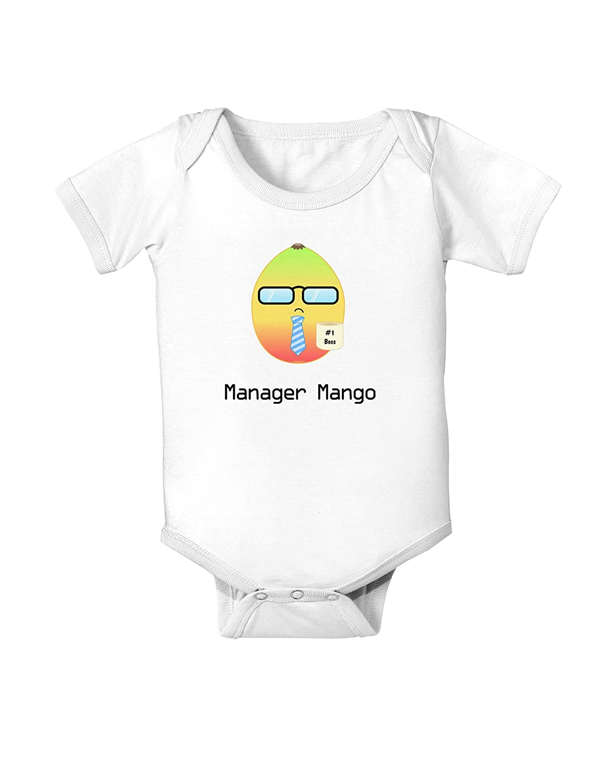 Manager Mango Text Infant One Piece Bodysuit