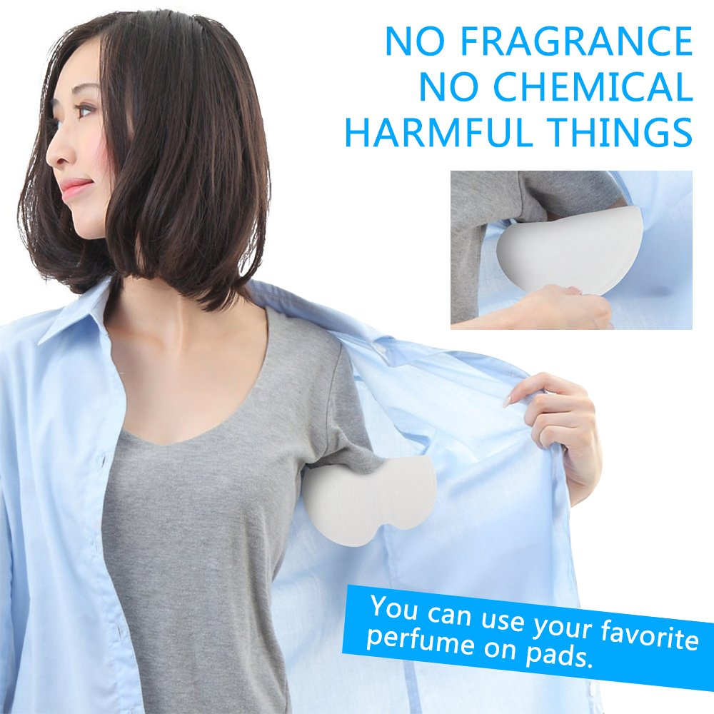 Disposable Absorbent Underarm Dress Shields - [Large Size] [100 Pack] iAbler Pure Antiperspirant Adhesive Underarm Pads, Comfortable, Sweat Free, Odor Blocker, Discreet, Perspiration Sweat Pad
