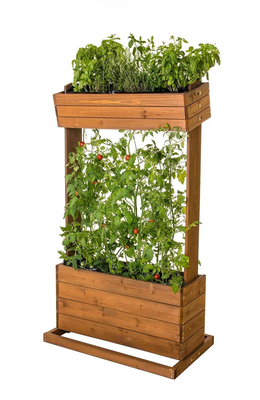 Home Garden Hochbeet Brenz Vertikal Mit Spannseile Echtholz B 82cm
