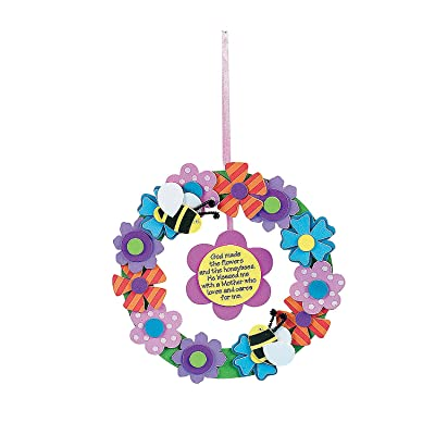 Foam Flower Wreath for Mom Craft Kit - Crafts for Kids and Fun Home Activities: Toys & Games