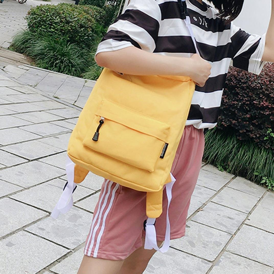 Inkach Fashion Womens Laptop Backpack Chic Girls Canvas School Rucksack Travel Shoulder Bags